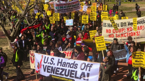 Solidarity movements around the world have denounced and mobilized against US sanctions. (@ChuckModi1/Twitter)